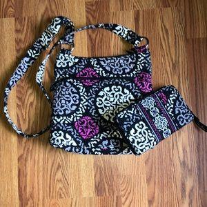 Vera Bradley Cross body purse W/ matching wallet